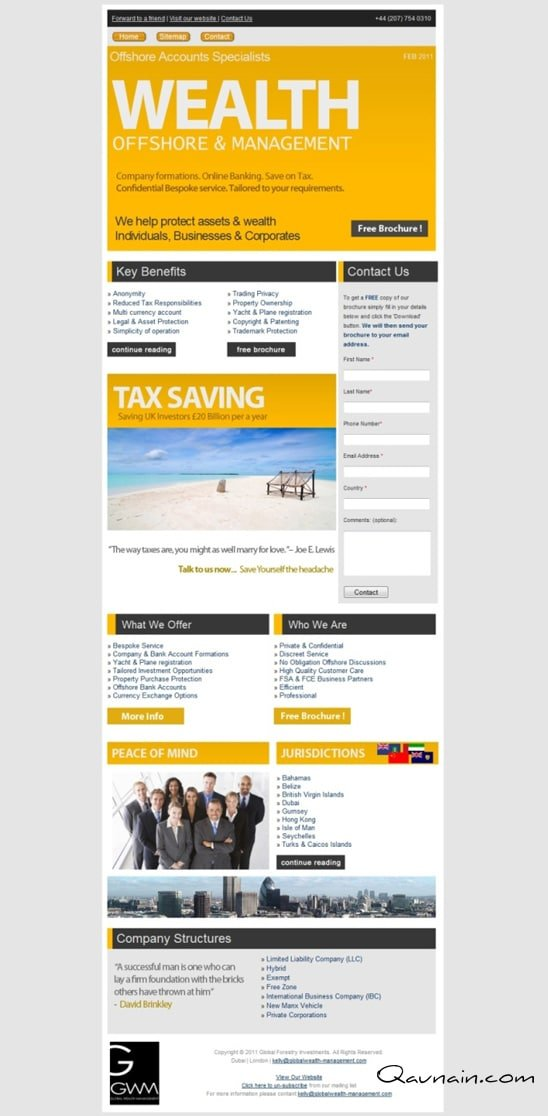Landing Page and Newsletter – PPC